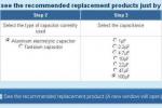 Новый онлайн - сервис TDK для быстрого поиска многослойных керамических конденсаторов на замену электролитических и танталовых конденсаторов
