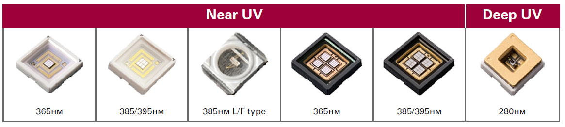 UV led LG Innotek Near UV Deep UV